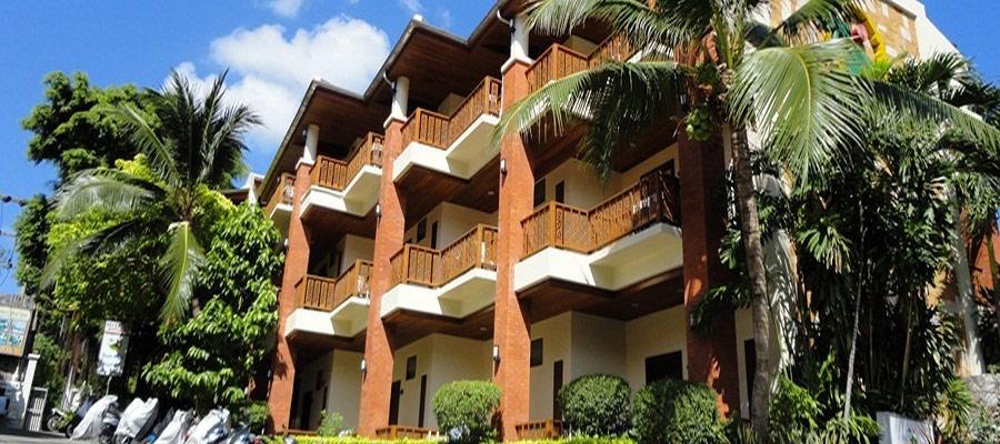 Übersicht der Hotel Zimmer vom Sun hill Hotel Patong - Phuket